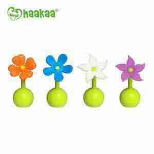 Haakaa Tapa de Silicona Flor Celeste