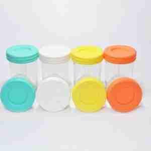 Baby Glass Set 4 contenedores 240 ml + lápiz marcador