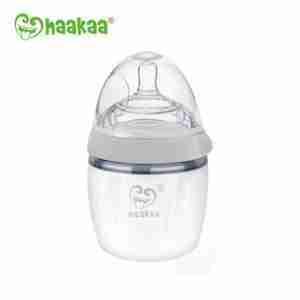 Haakaa Recolector de silicona Haakaa para leche materna GEN3 Pack Extractor/Mamadera 160ml GRIS