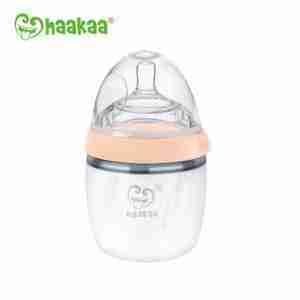Haakaa Recolector de silicona Haakaa para leche materna GEN3 Pack Extractor/Mamadera 160ml DURAZNO